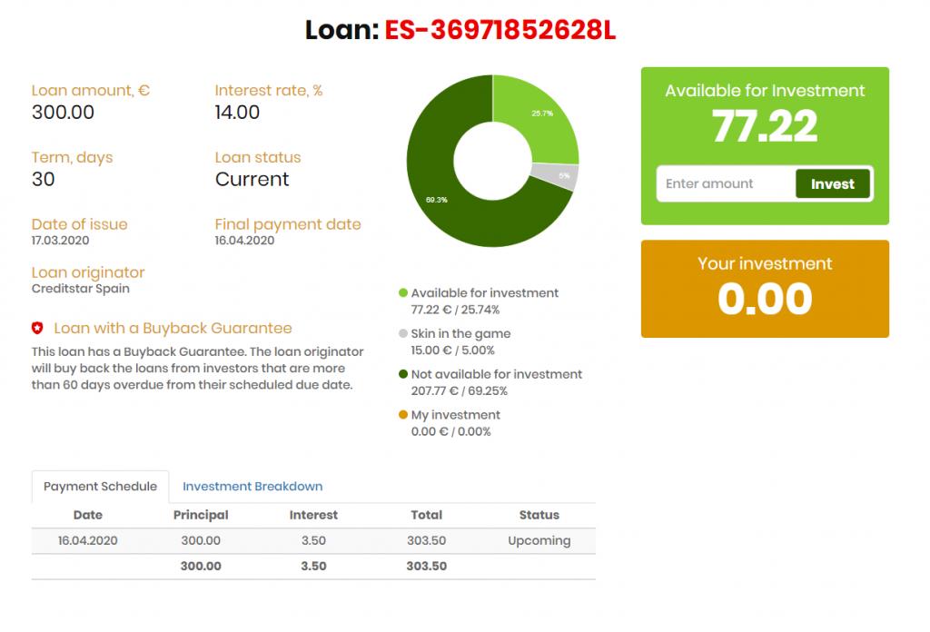 Example Loan Lendermarket
