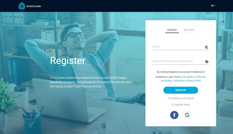 Register At P2P Investment Platform EstateGuru